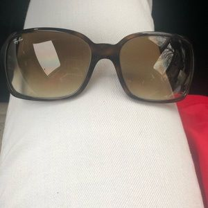 RayBan RB 4068 tortoise frames with brown lenses